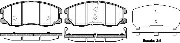 Колодка торм. CHEVROLET CAPTIVA передн. (пр-во REMSA)                                                 арт. 126112