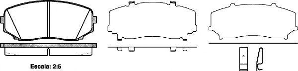 Колодка торм. MAZDA CX-7 передн. (пр-во REMSA)                                                       LPR арт. 126702