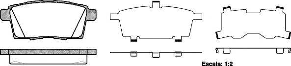 Колодки гальмiвнi зад. Mazda CX-7 2.3IT 06-, CX-9 06-  REMSA 126800