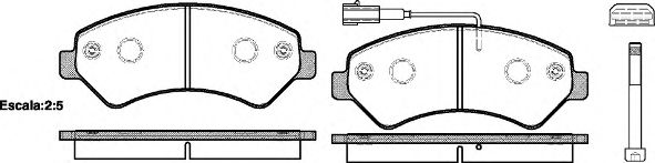 Гальмівні колодки дискові пер. Citroen Jumper/Fiat Ducato/Peugeot Boxer 06- REMSA 127501