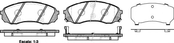 Колодка торм. HYUNDAI H-1 2.5CRDI 08-,CARNIVAL III 2.2CRDI-2.9CRDI 06- передн. (пр-во REMSA)          арт. 129102