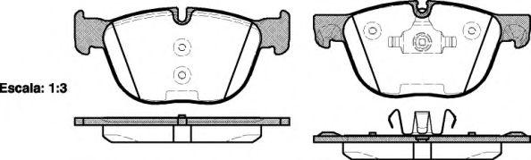 Гальмiвнi колодки дискові перед. BMW E70, E71 BMW X5 3.0d 07- REMSA 129700