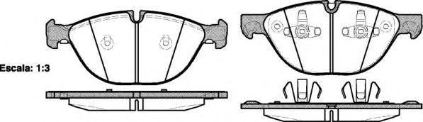 Колодка торм. BMW X5, X6 передн. (пр-во REMSA)                                                        арт. 129800