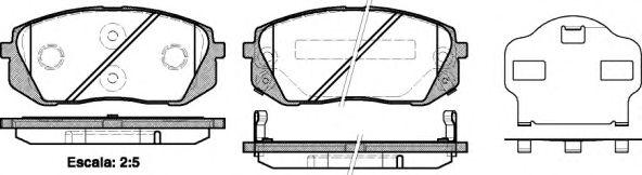Колодка торм. HYUNDAI ix35 передн. (пр-во REMSA)                                                      арт. 130202