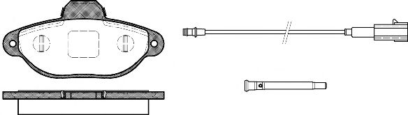 Колодка торм. FIAT 500 1.2 07-,FORD KA 1.2 08- передн. (пр-во REMSA)                                  арт. 041421