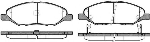 Гальмівні колодки диск. передні Nissan Juke,Note,Tiida 1.4-1.8 06-  REMSA 129302