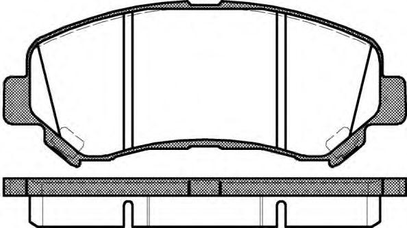 1318.00  REMSA - Гальмівні колодки до дисків ASHIKA арт. 131800