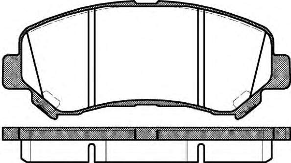 Колодка торм. NISSAN QASHQAI, передн. (пр-во REMSA)                                                  ASHIKA арт. 131800