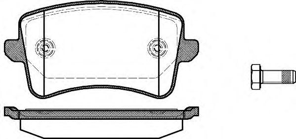 Гальмівні колодки дискові зад. Audi A4 (B8) Avant S4 08- (до вентильованих)  REMSA 134300