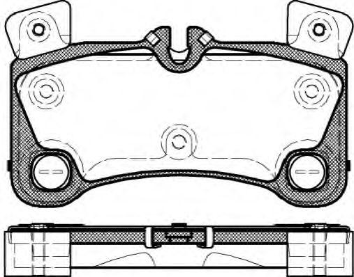 Гальмівні колодки дискові зад. Audi Q7/Porsche Cayenne/VW Touareg 3.0Tdi-6.0W12 08.04- REMSA 134600