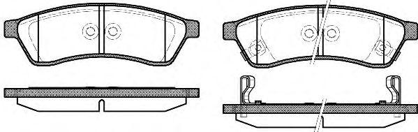 Колодка торм. CHEVROLET EPICA (KL1), 2.0, 2.5, 2.0D 01/05- задн. (пр-во REMSA)                        арт. 134902
