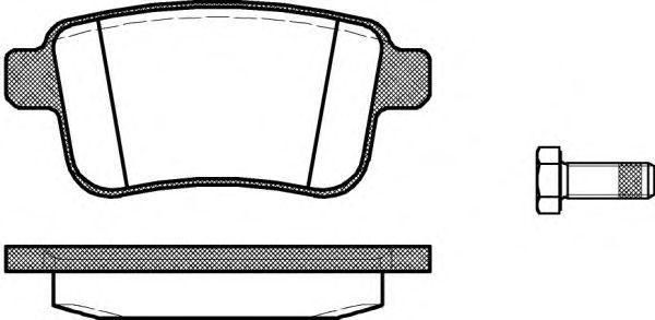 Гальмівні колодки дискові зад. Renault Kangoo II 08- REMSA 135200