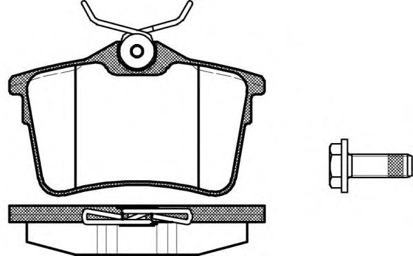Гальмівні колодки дискові зад. Citroen Berlingo/Peugeot Partner 1.6, 1.6 HDi 75, 90, 110 04/08- REMSA 138200