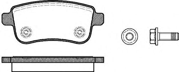 Гальмівні колодки дискові зад. Renault Scenic III/Megane III 2.0DCi 08- REMSA 138700