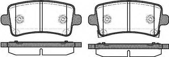 Гальмівні колодки дискові зад. Opel Insignia 08-/Saab 9-5 10-  REMSA 138804