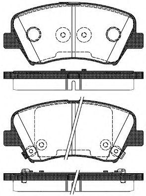 Тормозные колодки  арт. 141232