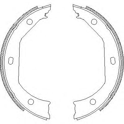Колодка торм. барабан. стоян. торм BMW 3(E46) 5(E39) (пр-во Remsa)                                    арт. 471600