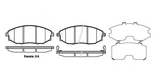 Колодка торм. CHEVR EPICA 2.0 2.0D 2.5 06- передн. (пр-во REMSA)                                      арт. 122302
