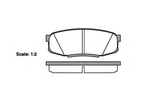 Гальмівні колодки дискові зад. Toyota Land Cruiser 4.5 D-4D/4.7 VVTi 01 07- REMSA 127200