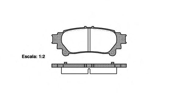 Гальмівні колодки дискові зад. Lexus RX 3.5i 08-  REMSA 139500