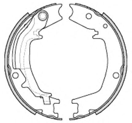 Колодка торм. барабан. KIA KM-NEW SPORTAGE(-SEP 2006) (пр-во Remsa)                                   арт. 423500