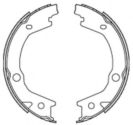 Колодка торм. барабан. HYUNDAI TUCSON 2.0 2.7 04-;KIA SPORTAGE 2.0 2.7 04- (пр-во Remsa)              арт. 469700
