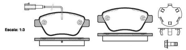 Колодка торм. ALFA MITO (955) (09/08-) передн. (пр-во REMSA)                                          арт. 085832