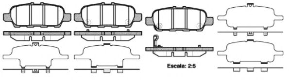Колодка торм. NISSAN MURANO 3.5 4X4 08-, SUZUKI GRAND VITARA 1.6-3.2 05- задн. (пр-во REMSA)          арт. 087641