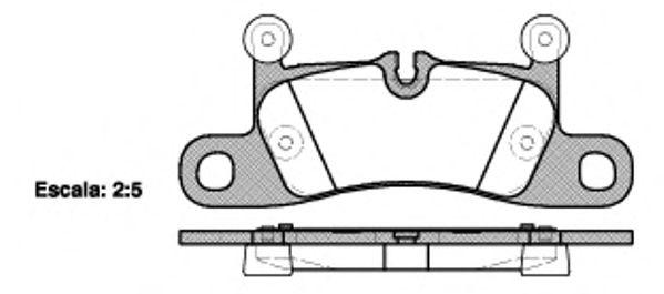 Гальмівні колодки дискові зад. VW Touareg 10-/Porsche Cayenne 10- REMSA 137910