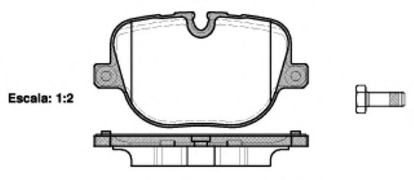 Гальмівні колодки дискові зад. Land Rover Range Rover III/ Range Rover Sport 4.4Td-5.0V8 04.09- REMSA 140800