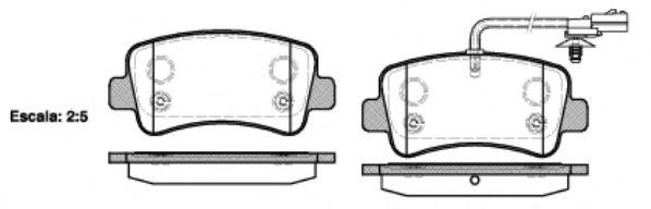 Гальмівні колодки дискові зад. Opel Movano Renault Master III 2.3Dci/2.3Cdti 05.10- REMSA 143901