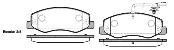 Гальмівні колодки дискові зад. Opel Movano B 2010- REMSA 144201
