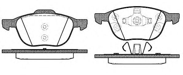 Колодка торм. FORD FOCUS, MAZDA 3,5, VOLVO C70, S40, передн. (пр-во REMSA)                           ABS арт. 108230