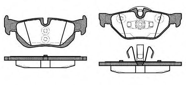 Колодка торм. BMW 1 series (E87)(E82)(E88)(09/04-) задн. (пр-во REMSA)                                арт. 114510