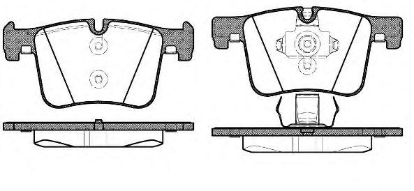 Колодка торм. BMW X3 20 DX, 20IX, BIS 10/11-,X3 35IX (F25) 2011- передн. (пр-во REMSA)                арт. 145700