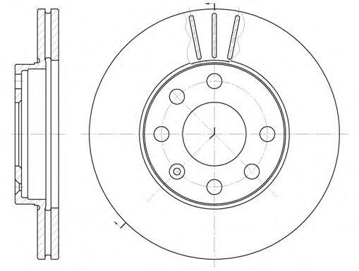 Диск тормозной DAEWOO LANOS R13 передн., вент. (пр-во REMSA)                                          арт. 606110
