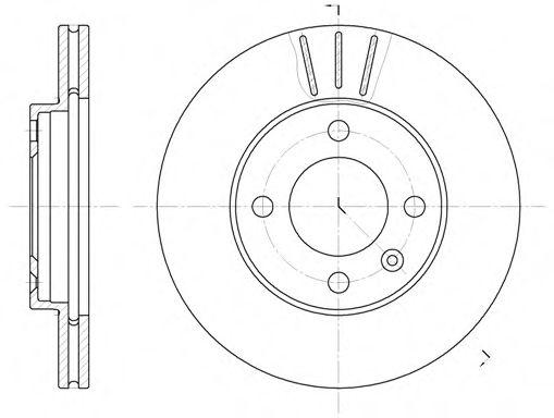 Диск тормозной AUDI 100 (44, 44Q, C3) (08/82-11/90) передн. (пр-во REMSA)                            REMSA 608410