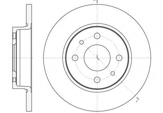 6089.00  REMSA - Гальмівний диск TRW арт. 608900
