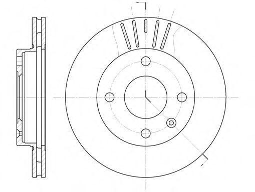 Тормозной диск  арт. 609610
