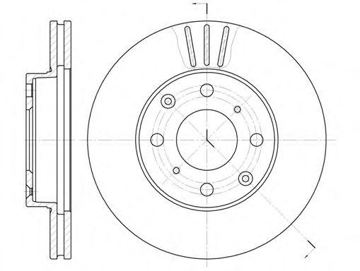 Диск тормозной HONDA CIVIC IV передн., вент. (пр-во REMSA)                                            арт. 610810