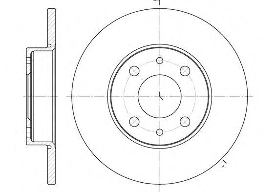Тормозной диск  арт. 611001