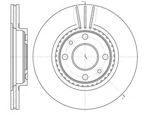 Диск тормозной RENAULT KANGOO, MEGANE передн., вент. (пр-во REMSA)                                    арт. 614410