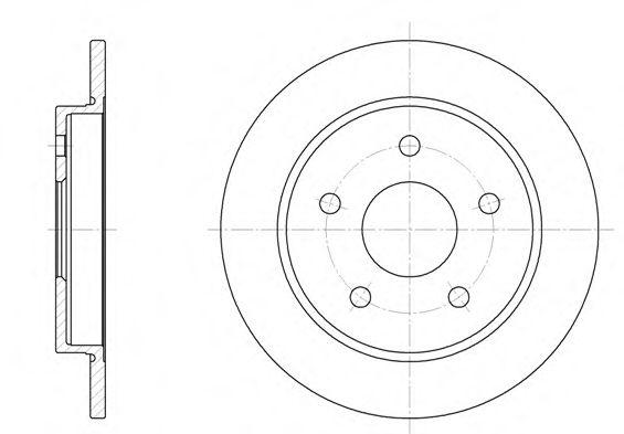 Диск тормозной FORD SCORPIO задн. (пр-во REMSA)                                                       арт. 614700