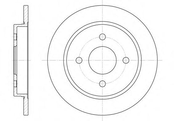 6155.00  REMSA - Гальмівний диск  арт. 615500