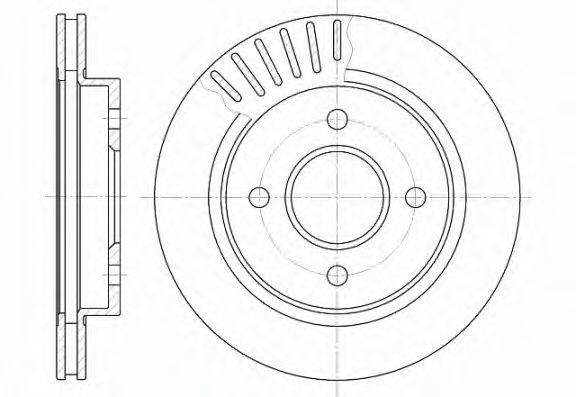 Диск тормозной FORD MONDEO, задн., вент. (пр-во REMSA)                                                арт. 616010