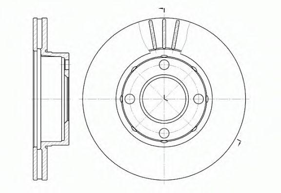 Диск тормозной AUDI 80 (8C, B4) (09/91-12/94) передн. (пр-во REMSA)                                  REMSA 617710