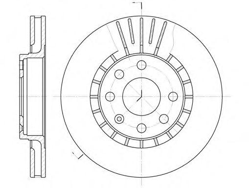 Диск тормозной DAEWOO LANOS R14 передн., вент. (пр-во REMSA)                                          арт. 617810