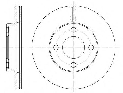 Диск тормозной AUDI 100 (43, C2) (08/76-07/82) (пр-во REMSA)                                         REMSA 618510
