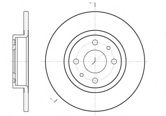 Диск тормозной  FIAT, LANCIA, ALFA 145, ALFA 146, ALFA 155 передн. (пр-во REMSA)                      арт. 619100