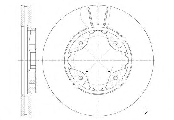 Диск тормозной HONDA передн., вент. (пр-во REMSA)                                                     арт. 620510